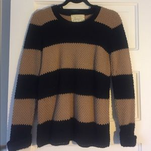 Urban Outfitters camel & black sweater
